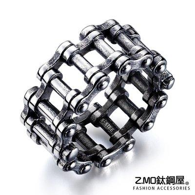 Z.MO鈦鋼屋 白鋼戒指 中性戒指 個性鏈條戒指 情人禮物 聖誕節禮物 單個價【BKS651】