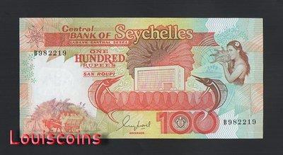 【Louis Coins】B1307-SEYCHELLES-ND (1989)賽席爾紙幣,100 Rupees