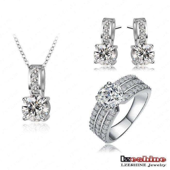 【秘密款】三件戒指精品爆款經典飾品耳環項鏈鋯石銅時尚OL