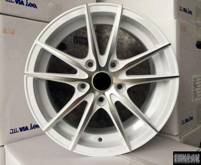 【CS-516】全新鋁圈 15吋 4孔100 / 5孔114.3 白色車面 類KONIG KN-16 (KN16)