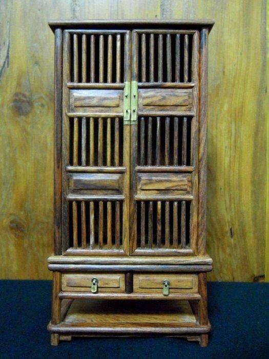 早期黃花梨直欞式小畫玩櫃-法利堂-直購價35000元.保證真品