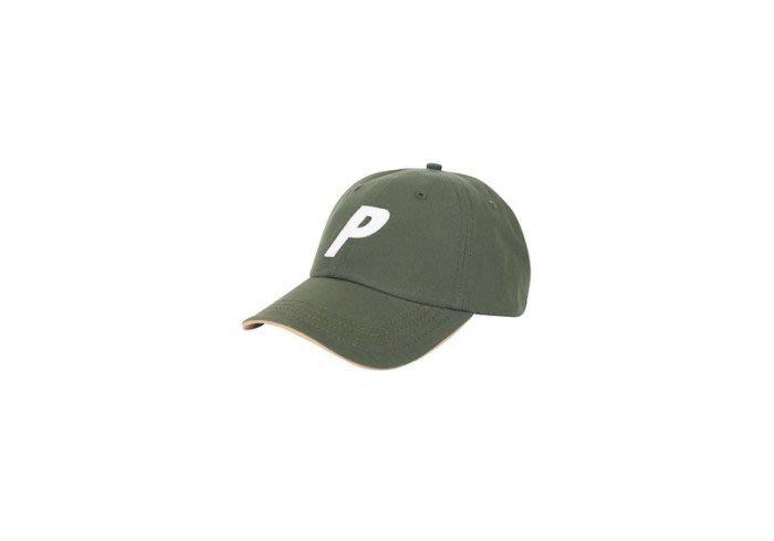 ☆AirRoom☆ 【現貨】2017SS Palace p 6-panel olive logo 大P 老帽 橄欖綠