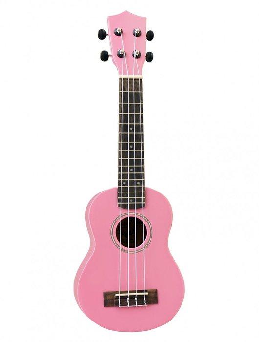 【名人樂器全館免運】Aloha UK -210 21吋 彩色 粉紅色 烏克麗麗 (附袋,共7色供選擇)