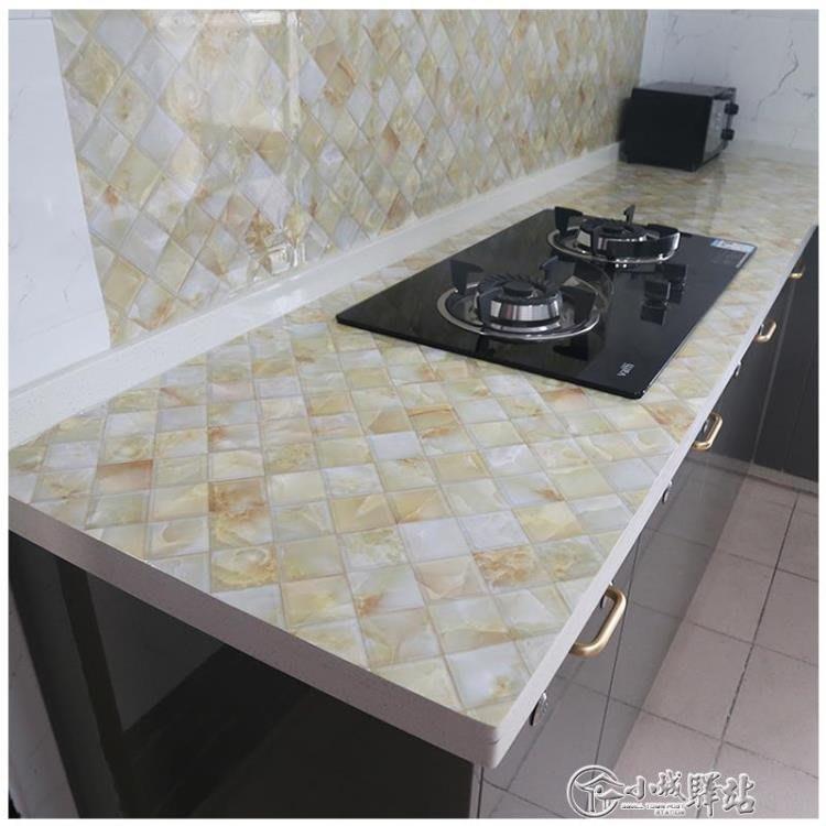廚房防油貼紙耐高溫防水自黏櫥櫃灶台浴室瓷磚牆貼大理石台面貼紙CXZJ