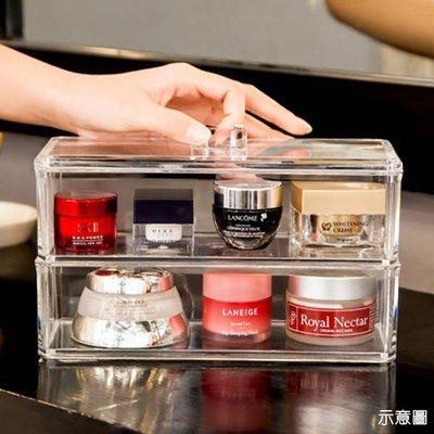 收納盒 (3格有蓋)高級壓克力彩妝收納...