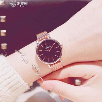 【蘑菇小隊】手錶女學生韓版簡約潮流女士手錶防水時尚款新款櫻花-MG32529