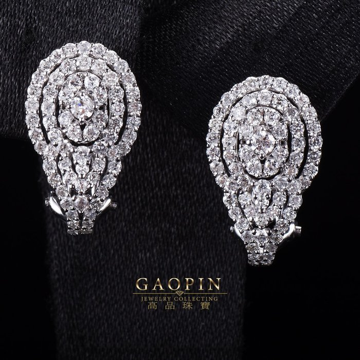 【高品珠寶】設計款《氣質》鑽石耳環 情人節禮物 生日禮物 (訂製款) #3381