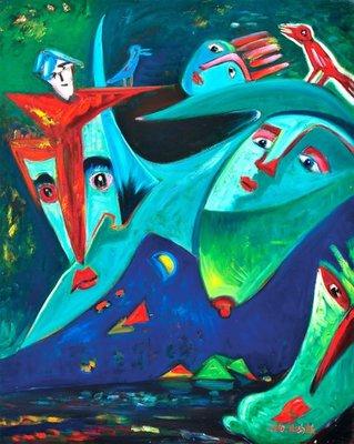 林鴻銘  歲月  2010  30號  油畫 (油彩、隱喻、超現實、現代、夢境、想像、彰化、本土)