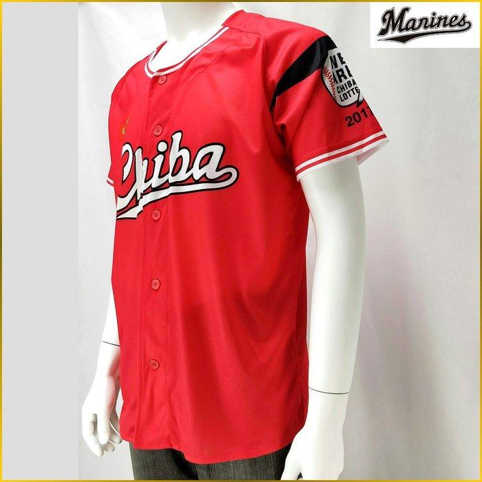 日本二手衣✈️日本職棒/千葉羅德海洋/應援棒球衣/紅色野球衣/Chiba Lotte Marines/棒球衣/YL011