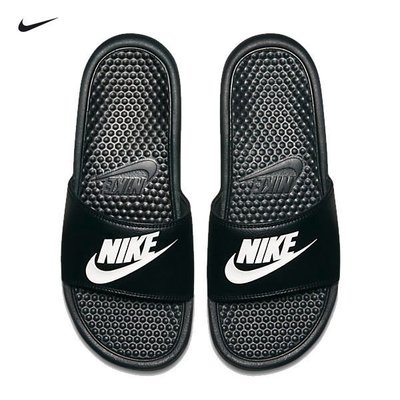Nike Benassi Solarsoft Slide 男用運動軟底拖鞋 權志龍GD 現貨 黑白 343880 090