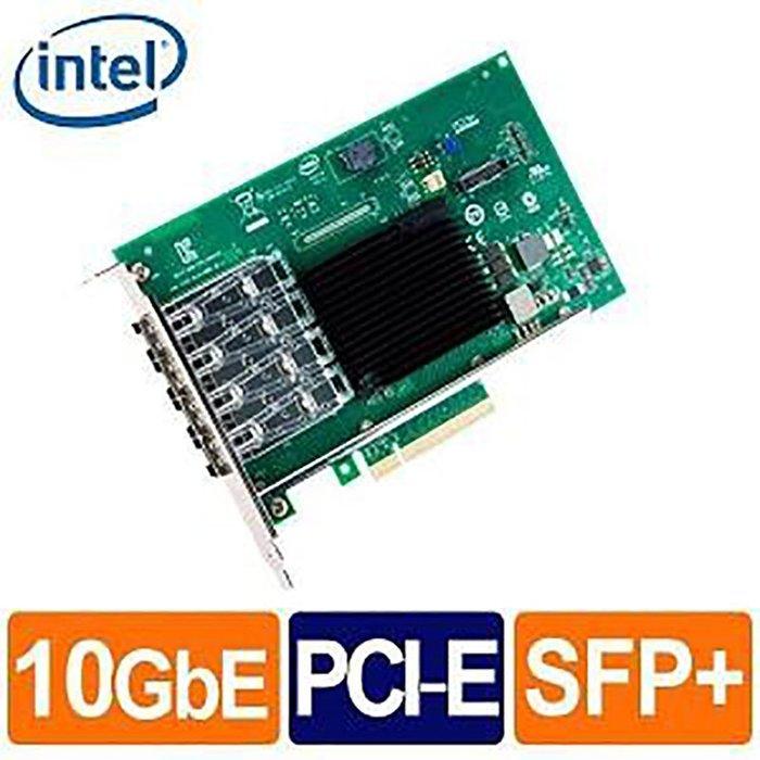 Intel X710-DA4FH (全高)10G 四埠 光纖/Fiber 網路卡(Non-GBIC) 乙太網路介面卡