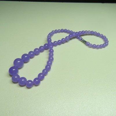【競標樂】高檔天然漂亮紫玉髓褡珠項鍊(週五特賣會、跳樓價起標、價高得標、限量一件)可店到店