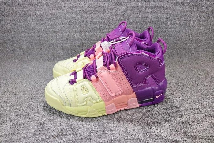 Nike Air More Uptempo 紫粉黃 拼接色 皮蓬 經典潮流 籃球鞋 男女鞋 AV8237-800