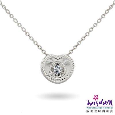 威世登 天然鑽石18K金套鍊-情人節、生日、紀念日、送禮- JDB01908-BAIXX