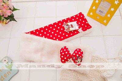 mandyshop【M2666】㊣ Disney 迪士尼珊瑚絨米妮造型圍巾/套脖