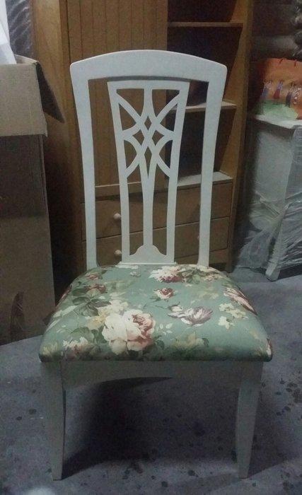 美生活館 全新英式鄉村全白美式鄉村 貝拉 餐椅書椅洽談椅會議椅 (深玫瑰布墊) 居家 民宿 僅有六只