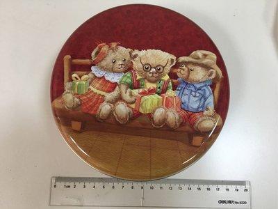 2018 香港聰明小熊 Jenny Bakery曲奇餅乾空盒 圓形鐵盒 收納盒 置物盒 DIY 聖誕禮物款