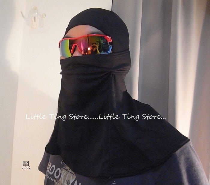 台灣製 透氣鳥眼網布防曬全罩式頭套吸濕排汗全罩防護防曬頭罩護脖博套安全帽重機自行車路跑環島進香行走