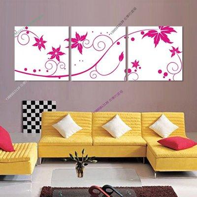 【40*40cm】【厚2.5cm】紅色花-無框畫裝飾畫版畫客廳簡約家居餐廳臥室牆壁【280101_273】(1套價格)