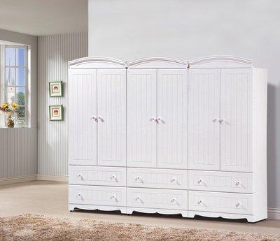 #2019【肯尼斯頓】瑪莎白色8x7尺衣櫥(HY47-1)