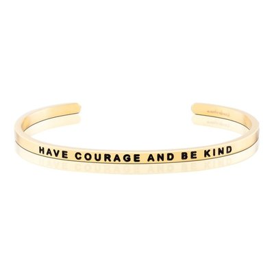 MANTRABAND 台北ShopSmart直營店 美國悄悄話手環 Have courage and be kind 金