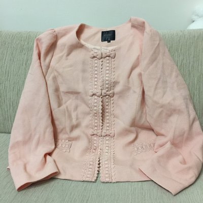 天使熊小鋪~YBS IMMIE系列粉色套裝上衣 針織禮服襯衫套裝外套 全新現貨 L版