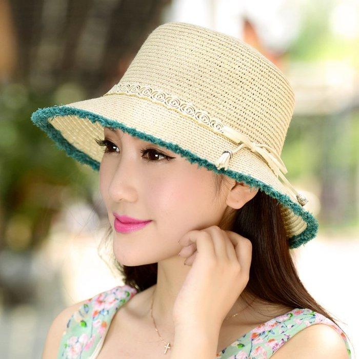 熱賣新品-帽子女夏天韓版時尚防曬帽潮戶外遮陽帽太陽帽折疊出游沙灘帽草帽#遮陽帽#防曬帽