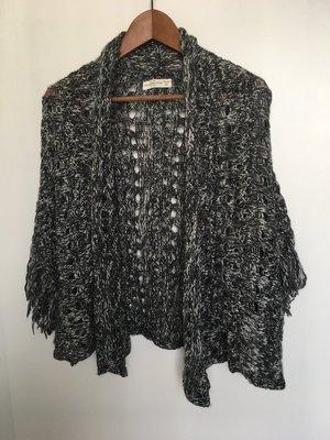 香港代購 a&f 毛線 外套 披肩 26% 羊毛 薄外套 毛料外套 香港 abercromble fitch