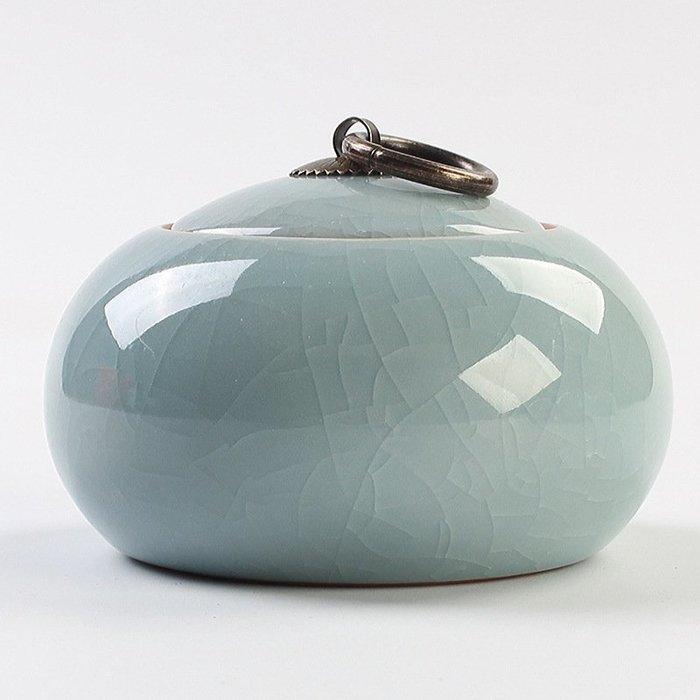 旅行茶具 茶具組 哥窯茶葉罐 小號迷你浮雕陶瓷密封罐 禮品茶具