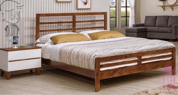 【X+Y時尚精品家具】現代雙人床組系列-艾維5尺柚木色雙人床台不含床墊及床頭櫃.另有6尺.摩登家具