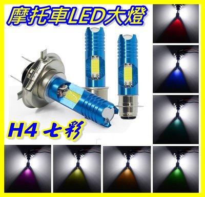 H4 LED大燈 七彩跑馬灯帶透鏡