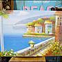 地中海風 手工油畫60*90公分 無框複製畫 海景小品海洋風掛飾椰樹帆船歐洲風景畫掛畫蓋電箱【歐舍傢居】