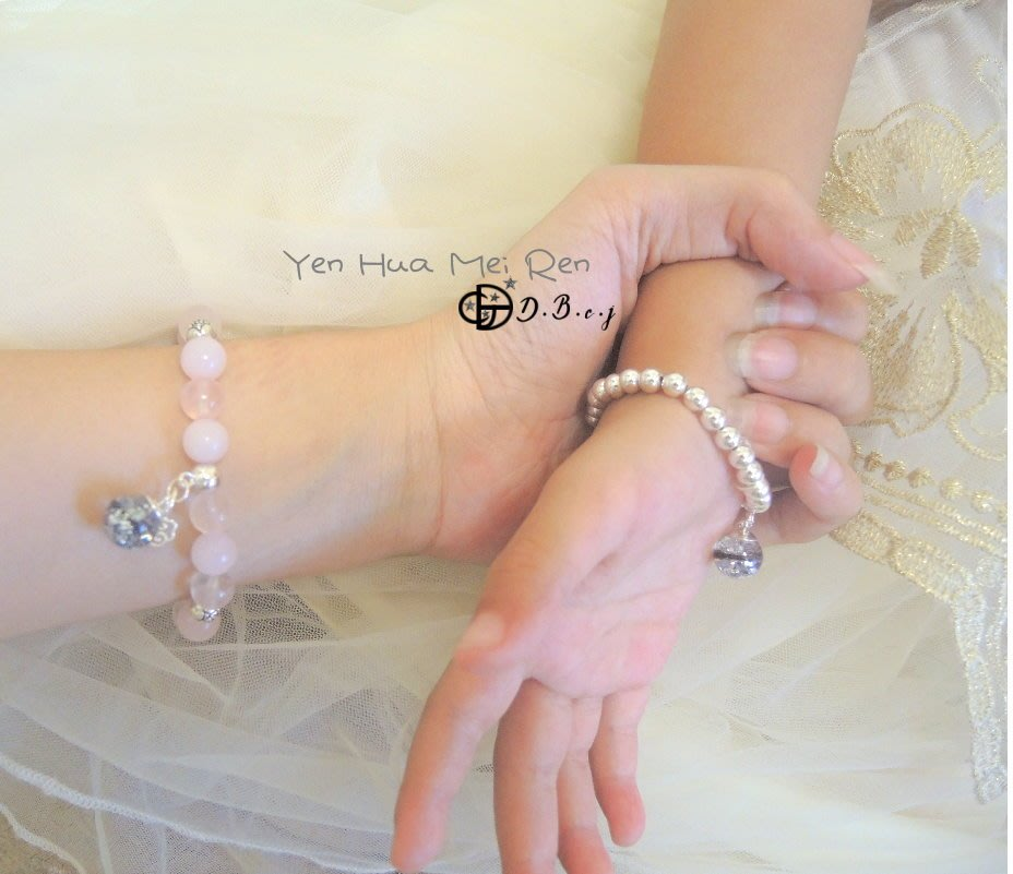Cindy❤mommy。媽媽親手做。粉晶款銀珠胎毛手鍊/彌月禮盒diy材料包。寶寶開運補運手鍊。。