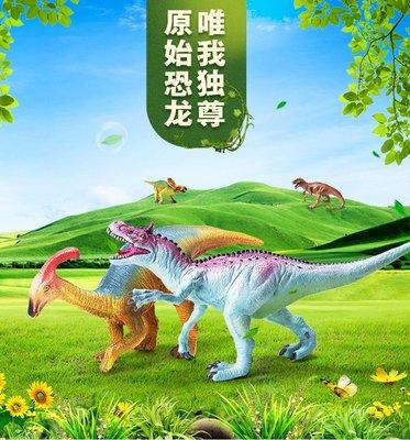 金喜盒RECUR 軟膠動物模型 侏羅紀仿真恐龍模型 3-8歲男孩玩具16005小玩窩