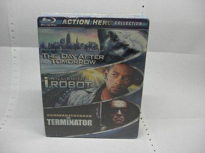 【正版BD】Action Hero(明天過後+機械公敵+魔鬼終結者1) 全新