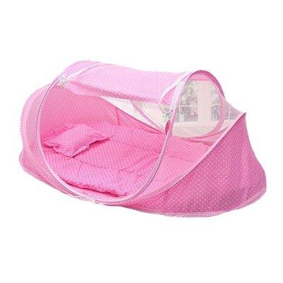 現貨/嬰兒床蚊帳罩寶寶蒙古包免安裝可折疊帶支架便攜式新生兒童小蚊帳132SP5RL/ 最低促銷價
