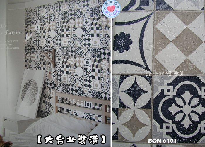 【大台北裝潢】BON台灣現貨壁紙* 仿建材 土耳其 花磚(5色) 每支650元