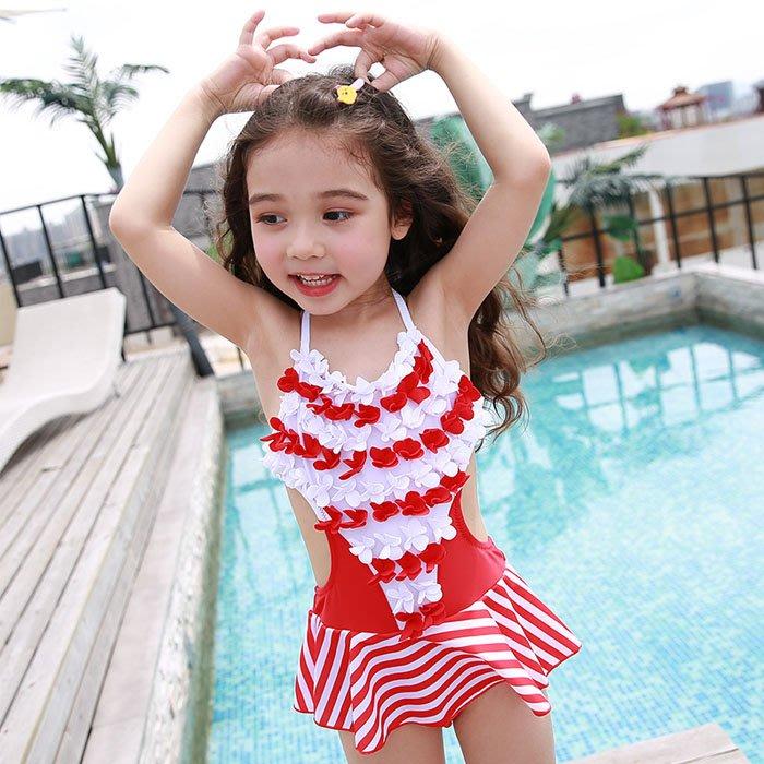 5Cgo【鴿樓】含稅會員有優惠 566903817567 韓國兒童遊泳小女孩寶寶中小大童小學生旅遊度假沙灘泡溫泉可愛泳衣