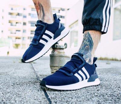 【路克球鞋小天地】愛迪達 Adidas U_Path Run 深藍色 男鞋 休閒 海軍藍 網布 EE7341 藍色 白色