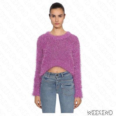 【WEEKEND】 FILLES A PAPA Tinsel 短版 露肚 針織 長袖 上衣 毛衣 粉色