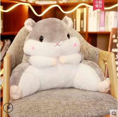 仓鼠抱枕被子两用靠背护腰靠垫靠枕办公室腰垫靠背垫座椅枕头椅子-微笑小屋