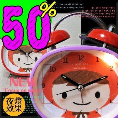 桌鐘/時鐘 韓系桌上鬧鈴可愛小紅帽  居家擺設造型 ☆匠子工坊☆【UC0067】大款