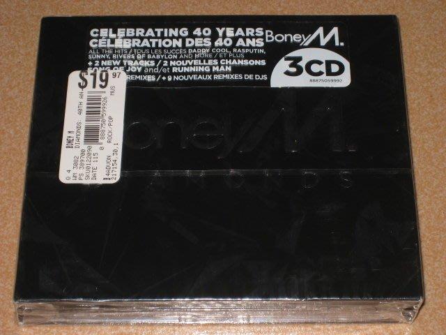 正版3CD《波尼M》鑽石舞棍40年全記錄 / BONEY M. Diamonds  全新未拆
