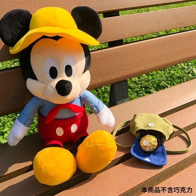 ☆Juicy☆超商 7-11 集點 便利商店 迪士尼 夢幻露營 露營版 米奇絨毛玩偶  後背包可放置小物 限量 現貨