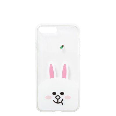 【手機殼】 預購 LINE FRIENDS 兔兔 愛德華 iPhone 7 Plus 透明 保護殼 保護套 硬殼 空壓殼