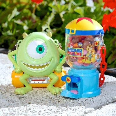 Ariels Wish日本東京迪士尼限定玩具總動員三眼怪扭蛋機吊飾掛飾糖果盒糖果罐藥罐收納盒首飾品盒子糖果組-絕版品