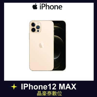 蘋果 i12 iPhone 12 PRO MAX 256GB 金色 6.7吋 5G 防水防塵  台南晶豪野