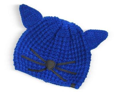 正品代購 Karl Lagerfeld 老佛爺卡爾拉格斐  熱賣不敗貓咪毛線編織帽 黑色/粉色/寶藍色 現貨