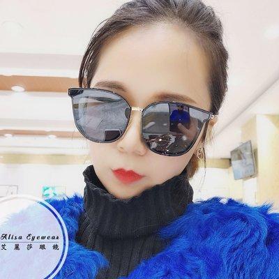 【艾麗莎】女士太陽眼鏡 抗UV400日本精品PC金屬貓眼圓框墨鏡 2019新款經典復古外型明星時尚潮流風格15302