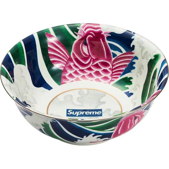【紐約范特西】預購 SUPREME SS20 Waves Ceramic Bowl 鯉魚躍龍門 陶瓷 碗